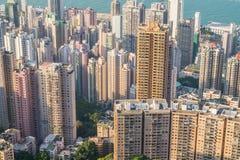 Взгляд сверху Гонконга Стоковые Изображения RF