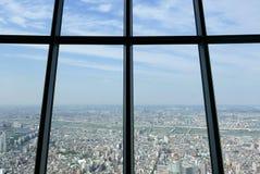 Взгляд сверху города токио Японии от башни skytree Стоковая Фотография RF