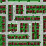 взгляд сверху города Стоковые Изображения RF