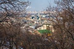 взгляд сверху города Стоковые Изображения