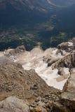 Взгляд сверху горы Стоковая Фотография RF