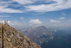 Взгляд сверху горы Стоковые Фото