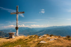 взгляд сверху горы montseny montserrat Стоковые Изображения