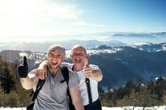 взгляд сверху горы montseny montserrat Стоковое Изображение