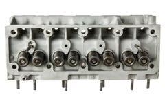 Взгляд сверху головки цилиндра двигателя автомобиля Стоковые Фото