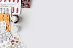 Взгляд сверху лекарств Стоковое Изображение