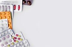 Взгляд сверху лекарств стоковые изображения rf