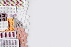 Взгляд сверху лекарств стоковые фото