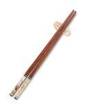 Взгляд сверху деревянных палочек на остатках палочки Стоковые Фото