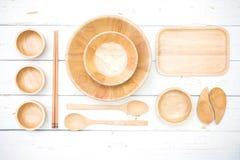 Взгляд сверху деревянных плит Стоковое Фото