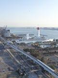 Взгляд сверху залива токио от Odaiba Стоковая Фотография RF