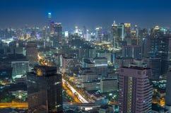 Взгляд сверху здания объединенного центра, городского пейзажа Бангкока Стоковое Фото