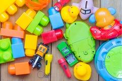 Взгляд сверху игрушки младенца Стоковая Фотография RF