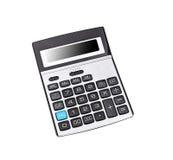 Взгляд сверху изолированного калькулятора Стоковая Фотография