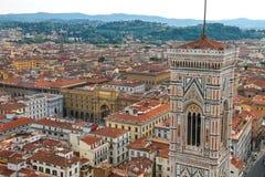 Взгляд сверху исторического центра Флоренса, Италии Стоковые Изображения