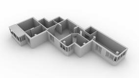 Взгляд сверху квартиры плана стоковое фото rf