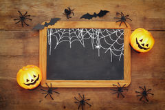 Взгляд сверху концепции праздника хеллоуина Стоковое Изображение