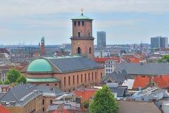 Взгляд сверху Копенгагена Стоковое Изображение RF