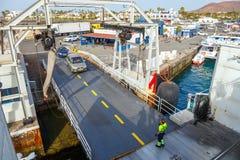 Взгляд сверху корабля и пассажирского парома Стоковые Изображения