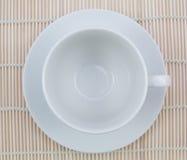 взгляд сверху кофейной чашки пустой Стоковое Фото