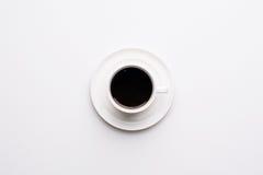 взгляд сверху кофейной чашки Стоковая Фотография