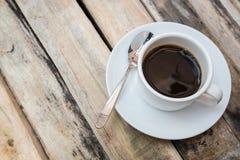 Взгляд сверху кофе утра Стоковое Изображение RF