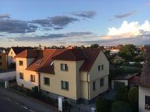 Взгляд сверху крыши к церков Стоковая Фотография RF