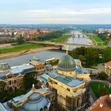 Взгляд сверху крыши Alstadt Дрездена Стоковые Изображения RF