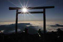 взгляд сверху крыши mt горы klilimanjaro kilimanjaro Африки самый высокий горизонтальный Фудзи Япония Стоковые Фотографии RF