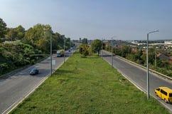 Взгляд сверху к шоссе Уловка-Софии стоковая фотография