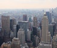 Взгляд сверху Манхаттана, США Стоковая Фотография