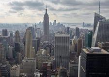 Взгляд сверху Манхаттана, США Стоковое Изображение