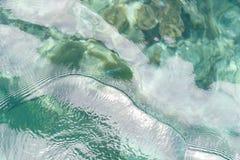 Взгляд сверху моря и рыб Стоковые Изображения RF