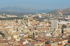 Взгляд сверху над городом марселя Стоковые Изображения RF