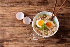 Взгляд сверху на китайском супе Стоковые Изображения RF