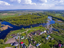 Взгляд сверху на потоке реки, aerophoto Стоковое Изображение RF