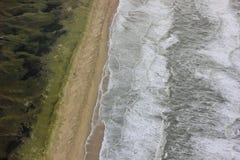 взгляд сверху на пляже Северного моря Стоковое Фото