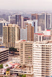 Взгляд сверху на центральном финансовом районе Найроби от вертодрома центра международной конференции Kenyatta Стоковая Фотография RF