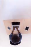 Взгляд сверху неофициальной Афро-американской коммерсантки Стоковая Фотография RF