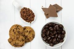 Взгляд сверху нескольких конфет шоколада Стоковое Изображение RF