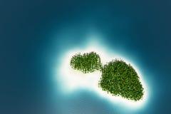 Взгляд сверху острова лета Стоковые Изображения