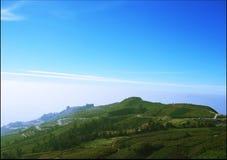 Взгляд сверху от горы Стоковые Изображения