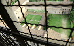 взгляд сверху от колокольни аббатства Pomposa в централи оно Стоковое фото RF