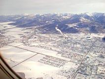 Взгляд сверху от самолета Стоковые Изображения