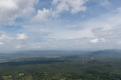 Взгляд сверху от самолета Стоковые Фотографии RF