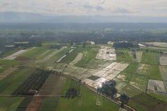 Взгляд сверху от самолета Стоковое Изображение