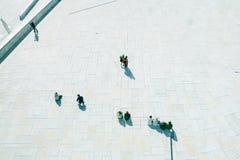 Взгляд сверху отдыхая людей Стоковое Фото