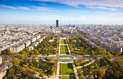 Поле Марса. Взгляд сверху. Париж. Франция Стоковые Изображения