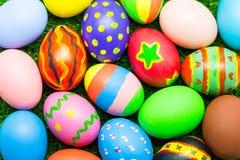 Взгляд сверху пасхального яйца Стоковое Изображение
