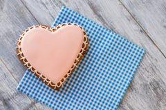 Взгляд сверху печенья сердца Стоковое Фото